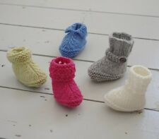 Easy Baby Booties Boots Shoes Gift Ugg Knitting Pattern Free Chick & Egg Pattern