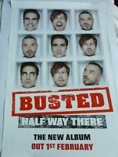 BUSTED HALF WAY THERE ORIGINAL  PROMOTIONAL POSTER NEW UNUSED