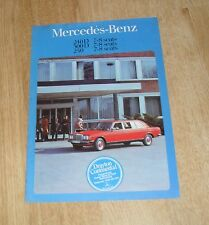 Mercedes Benz W123 240D 300D 250 7-8 Seat Limousine Specification Brochure 1977