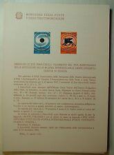 1962  ITALIA  Bollettino Postale N° 84 Mostra Cinematografica di Venezia