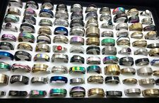 100x Top MIX Stainless steel rings Men Women Wholesale Fashion Jewelry Job lot