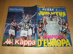 HURRA JUVENTUS=N°6 1996=CAMPIONI D'EUROPA 1995/96=MANCA IL MEGAPOSTER