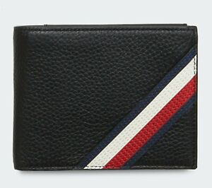 Tommy Hilfiger Pebble Downtown Trifold Leather wallet Extra CC holder