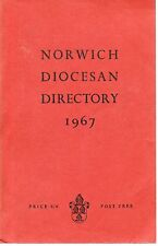 NORWICH DIOCESAN DIRECTORY 1967 PAPERBACK 108TH ISSUE NEW EDITION