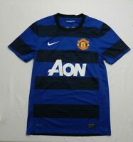 AON Manchester United Men's Size Small Nike Blue Black Jersey Dri Fit Authentic