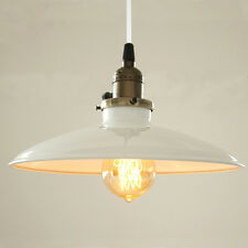 Retro Vintage Metal Ceiling Lamp Shade Chandelier Pendant Light Loft Fitting LED White 60w Filament Bulb