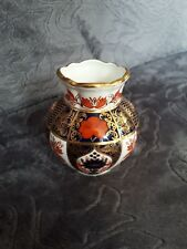 Royal Crown Derby 1128 Old Imari pattern Squat Vase 2nd Quality