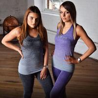 Purple Grey or Blue Ombre TWSTDST Leggings Sports wear clothing gym bunny