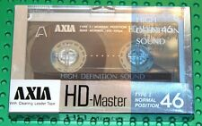 AXIA   HD  MASTER   46                       BLANK CASSETTE TAPE (1) (SEALED)