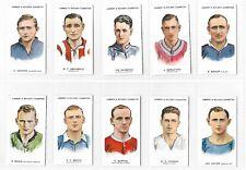Lambert and Butler Footballers 1930/31 Full set 50 Cigarette cards