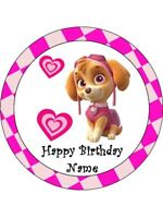 PAW PATROL SKYE Edible Wafer Paper Birthday Cake Decoration & 12 Cupcake Toppers