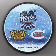 2016 Winter Classic Boston Bruins Montreal Canadiens NHL Hockey Puck + FREE Cube