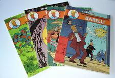 BARELLI von Bob de Moor - Bände 1 2 3 4 komplett - Carlsen 1. Auflage 1983/84