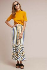 New Anthropologie Island Striped Skirt by Azulu  Retail $260 SIZE 4