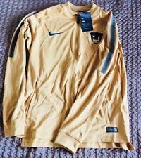 Pumas UNAM Mens Official Soccer Jacket Nike N98 Size M Gold w detailles