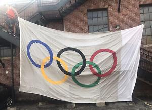 HUGE Olympic Flag 20' X 12'  Rings Custom Made WinCraft USA Giant Large Big