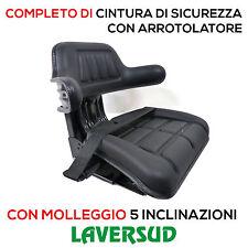 Sedile Universale Trattore + Cintura di Sicurezza Arrotolatore + Certificazione