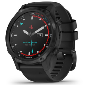 Garmin Descent Mk2S Watch-Style Dive Computer Gray with Black Silicone Band