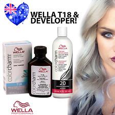 Wella T18 Colour Charm Hair Toner PLUS Developer - T18 Lightest Ash Blonde!