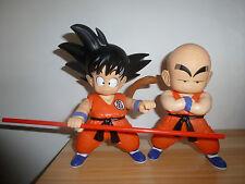 "Dragon Ball Z Kid Goku and Krillin 8""  2 Soft vinyl Figures loose"