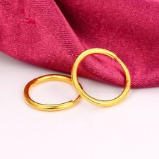 11mmWide  1 Pair Of 999 Solid 24k Yellow Gold Little Smooth Circle Hoop Earrings