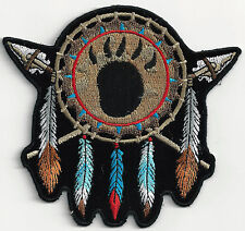 DREAMCATCHER with BEAR FOOTPRINT - SEW or IRON-ON PATCH