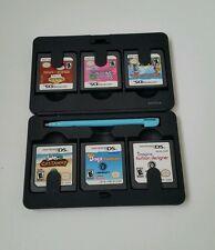 Nintendo Ds 6 Game Cartridges Case Holder - Zelda - With Games