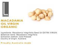 MACADAMIA OIL EXTRA VIRGIN 100% PURE NATURAL ORGANIC BASE CARRIER OIL 1 Litre