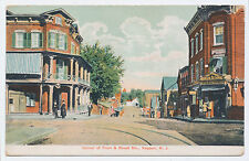 RARE 1907 Front & Broad Streets in KEYPORT WALLING New Jersey NJ Post Card