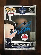 AUSTON MATTHEWS TORONTO MAPLE LEAFS SIGNED FUNKO POP! HOCKEY TOY #20 w/COA PROOF