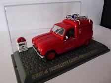 Voiture 1/43 Universal Hobbies Renault R 4 L : fourgonette POMPIERS Annonay 1965