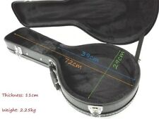 A-Style Black Mandolin Hard Case, Lockable w/Key,for Pear Shaped Mandolin MC-001