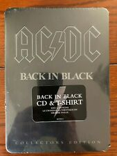 AC/DC Back in Black Collectors Edition Tin with CD & Large T-Shirt
