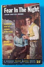 Vintage IRVING SCHWARTZ FEAR IN THE NIGHT Noir Crime Thriller PB POCKET BOOKS