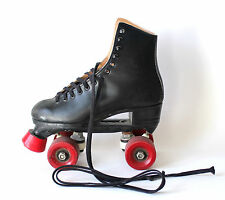 Vintage Boys Roller Skates Black Size 4 Made in Canada