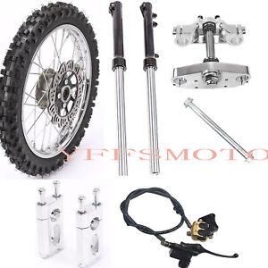 Wheel Rim Tire 60/100-14 +Front Fork Shocks+Brake Assembly For YZ65 KX60 SX Bike