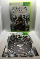 Assassin's Creed Brotherhood -2 Disks- Complete CIB - Great Cond.- Xbox 360