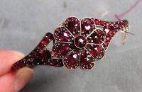 Antique Victorian Garnet Bangle Bracelet Circa 1880
