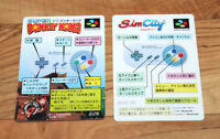 Donkey Kong SimCity SNES Super Famicom Promo Card Set Old Vintage 1991 1994 Rare