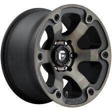 """4-Fuel D564 Beast 16x8 6x5.5"""" +1mm Black/Machined/Tint Wheels Rims 16"""" Inch"""