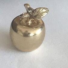 9ct Oro Amarillo Gran Manzana pulsera con dijes Collar 375 Colgante