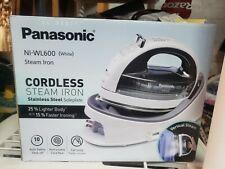 Panasonic NI-WL600 White Cordless Vertical Steam Iron Stainless Steel Soleplate