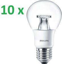 10 x PHILIPS LED Lampe MASTER E27 Glühbirne 6W = 40W Warm Leuchte DIMMBAR Clear