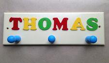 Personalizados Para Niños Placa de nombre / Perchero Con Ganchos-elección de colores