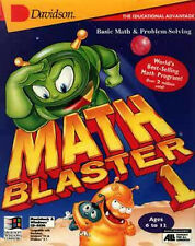 Math Blaster In Search of Spot 1st  2nd 3rd 4th 5th grade PC CD XP  not 64bit