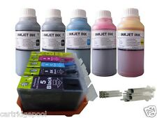 Refillable ink Cartridge for Canon PGI-5 CLI-8 iP4300 iP5200 MP500+5x250ml/5s 1P