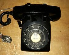 Vintage Rotary Dial Telephone - black
