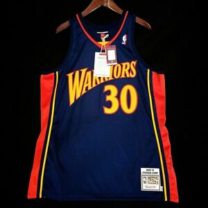 100% Authentic Stephen Curry Mitchell Ness 09 10 Warriors Jersey Size 56 3XL