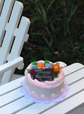 Miniature Dollhouse FAIRY GARDEN Accessories ~ Birthday Cake with Flowers ~ NEW