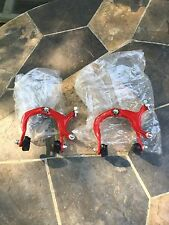 2 NEW Red 2000AE Bmx/Freestyle Brake Calipers With Pads-*Trusted Seller *